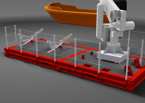 MOB / Service Boat - 20ft. ISO module.